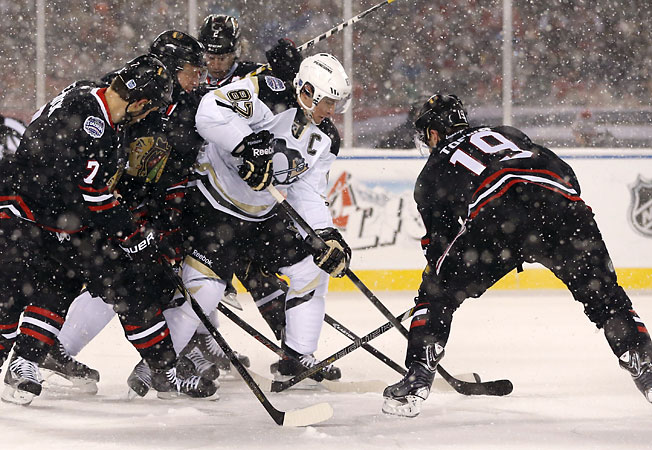The game between the Blackhawks and Penguins at Soldier Field was part of hockey's big year.