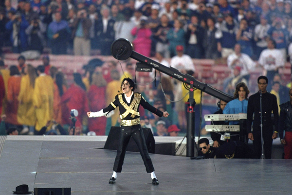 Jackson performs during halftime of Super Bowl XXVII in Jan. 1992. (V.J. Lovero/SI)
