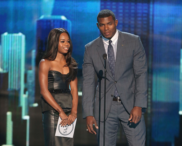 Gabby Douglas and Yasiel Puig :: Getty Images