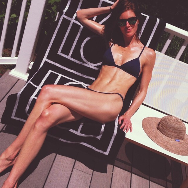 @hilaryrhoda: Weekend necessities: @solidandstriped bikini & @totemenyc beach towel