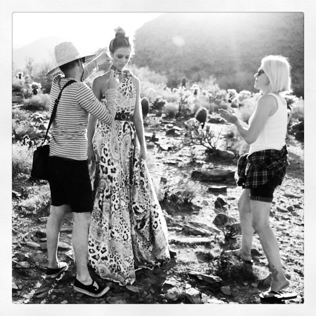 @katelynnebock: Behind the scenes in the desert with @jostrettell and davidcox