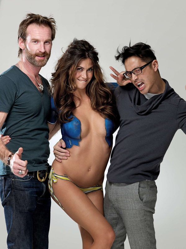 Melissa Satta with Peter Butler and Yu Tsai