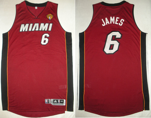 LeBron James wore this jersey during the first half of Game 1 of the 2014 Finals.