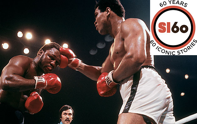 A ceaseless battering by Ali eventually prevented Frazier from answering the bell for the 15th round.