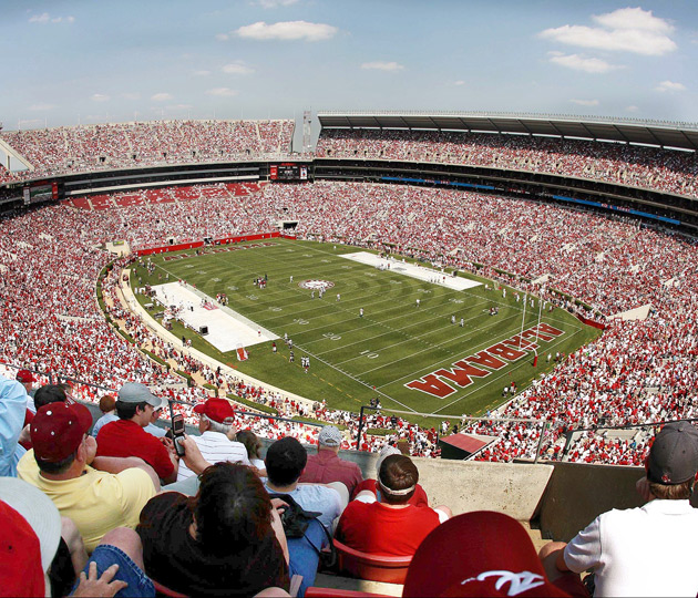 A record crowd of 92,000 people watched Nick Saban coach his first spring game at Bryant-Denny Stadium.