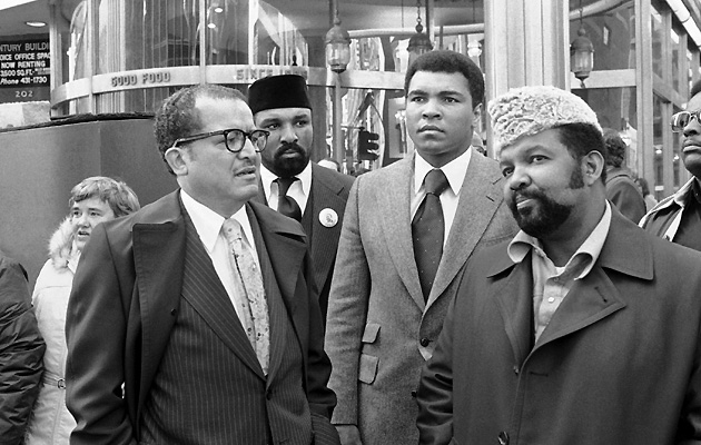 Herbert Muhammad (right) remained out of the spotlight, even during the height of Ali's career.