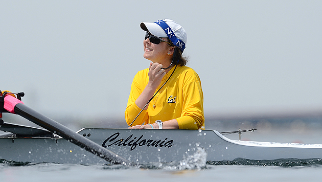 Jill Costello in action at the 2010 Pac-10 women's rowing championships.