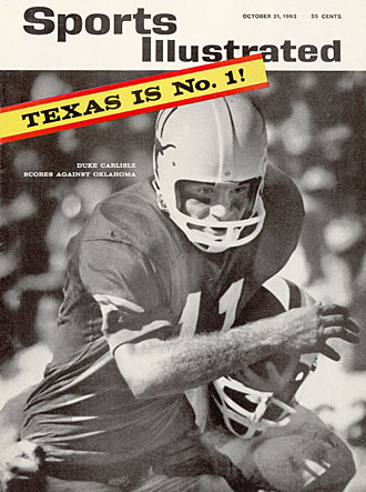 Quarterback Duke Carlisle landed on the cover after Texas' big win, but it would be a few more weeks before SI readers learned about Joe Coffman.