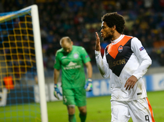 Luiz Adriano tied Lionel Messi's Champions League record by scoring five goals in one game.