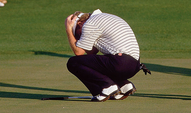 Tom Kite couldn't believe it when his crucial putt at 18 somehow missed.