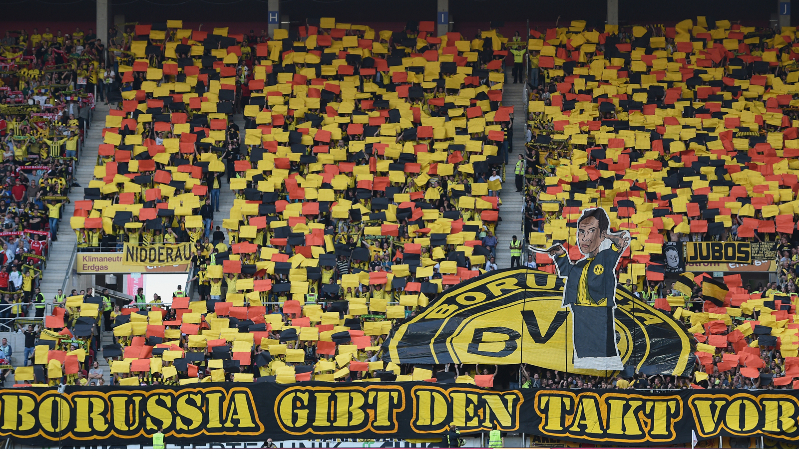 Dortmund fans put on another strong display at a Bundesliga match against Mainz 05.