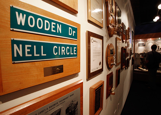 John Wooden's den, which was decorated by Nell, has been recreated and memorialized in the UCLA Athletics Hall of Fame.