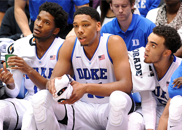 Freshmen Justise Winslow, Jahlil Okafor and Tyus Jones (left to right) make up Duke's latest stellar recruiting class.