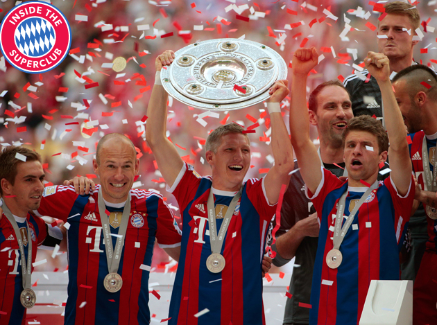 Lifting trophies has become a regular occurrence for (from left) Bayern's Philipp Lahm, Arjen Robben, Bastian Schweinsteiger and Thomas Muller.