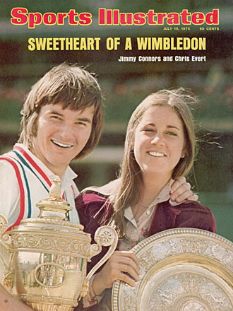 Jimmy Connors and Chris Evert were a couple -- and Wimbledon champions -- in 1974.