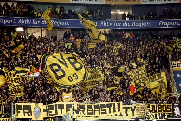 The always-fervent Borussia Dortmund fans have had their emotions tested this season, with ups in the Champions League but downs in the Bundesliga