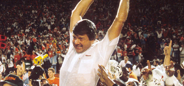 Jimmy Johnson won a national title at Miami, but the program had plenty of problems off the field.