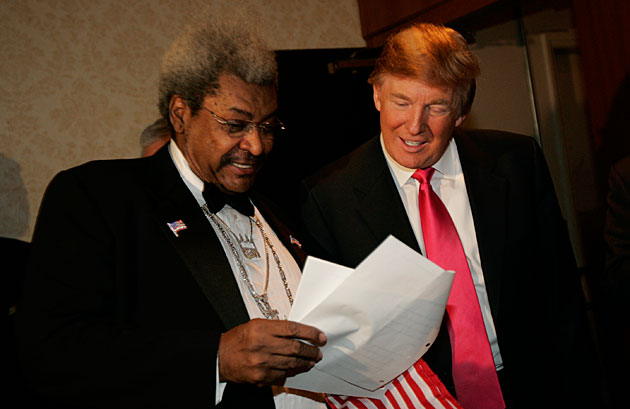 Roastmaster Donald Trump (right) and roastee Don King may have had more in common than they realized.