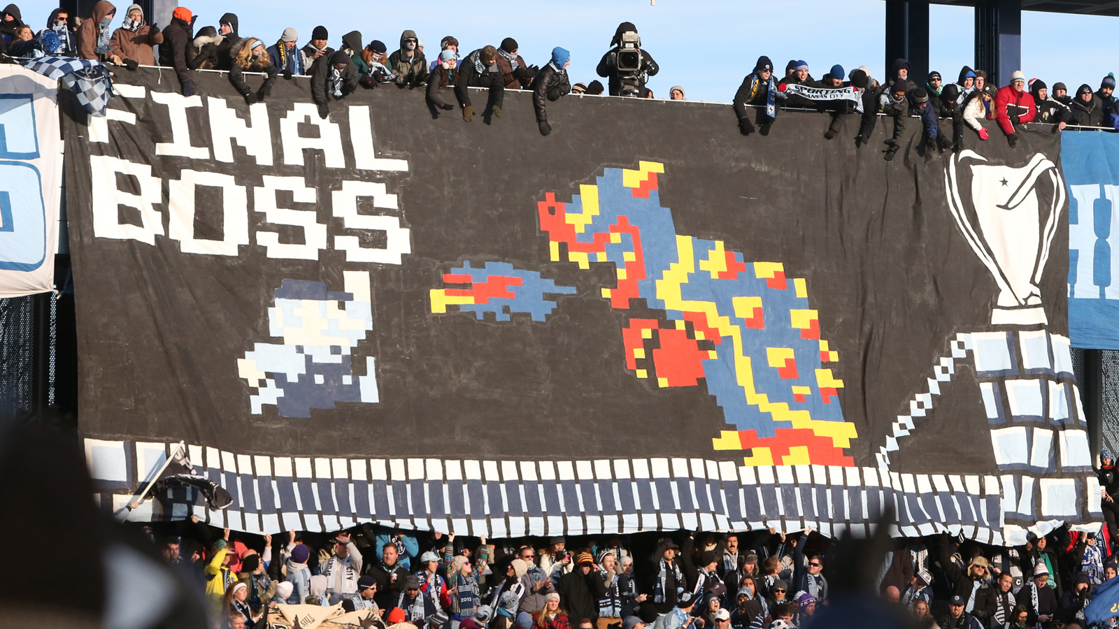 Sporting Kansas City fans channel their inner Mario ahead of the 2013 MLS Cup final vs. Real Salt Lake.