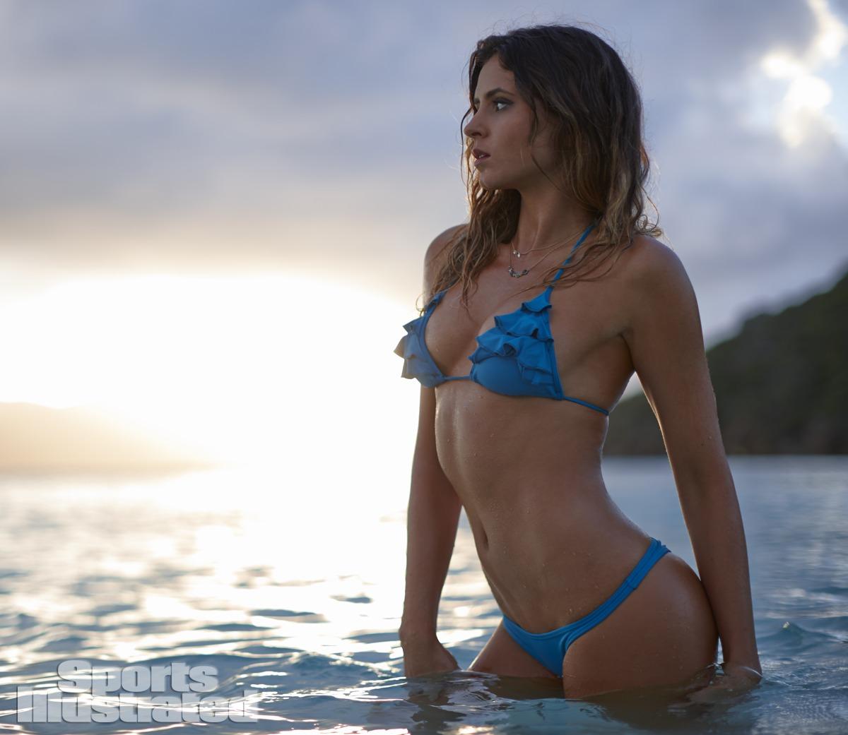 Anastasia Ashley was photographed by Adam Franzino in Guana Island. Swimsuit by San Lorenzo.