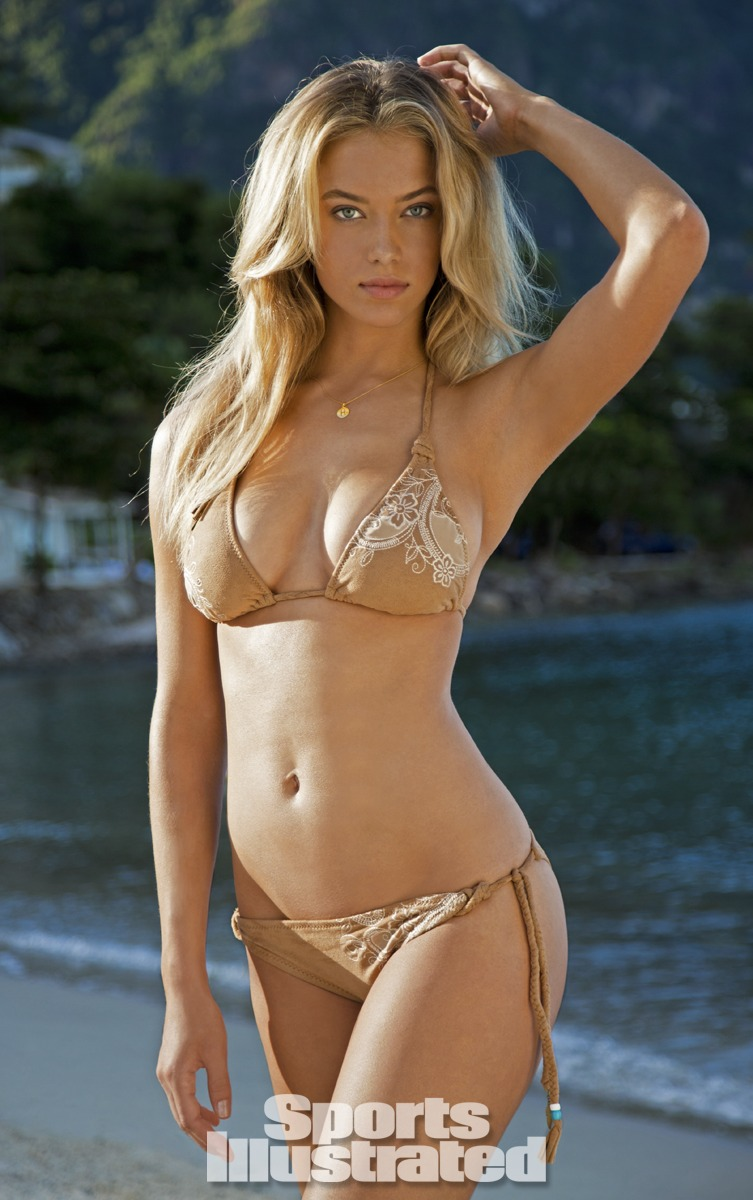 Hannah Ferguson was photographed by Walter Iooss Jr. in St. Lucia. Swimsuit by Lucky Brand Swimwear.