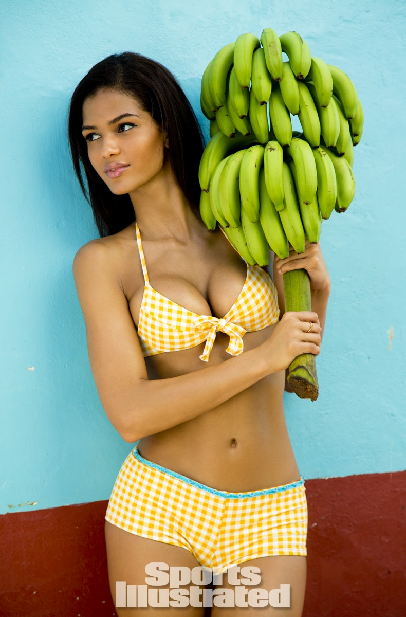 Cris Urena was photographed by Walter Iooss Jr. in St. Lucia. Swimsuit by Letarte by Lisa Cabrinha.