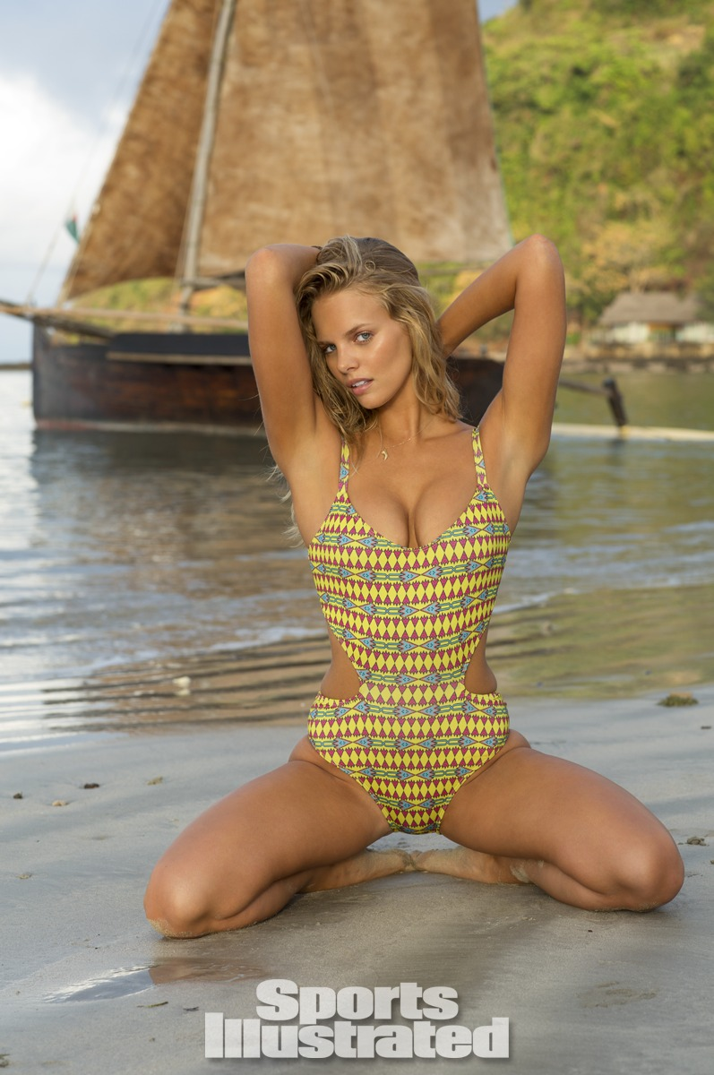 Marloes Horst was photographed by Derek Kettela in Madagascar. Swimsuit by Beach Riot.