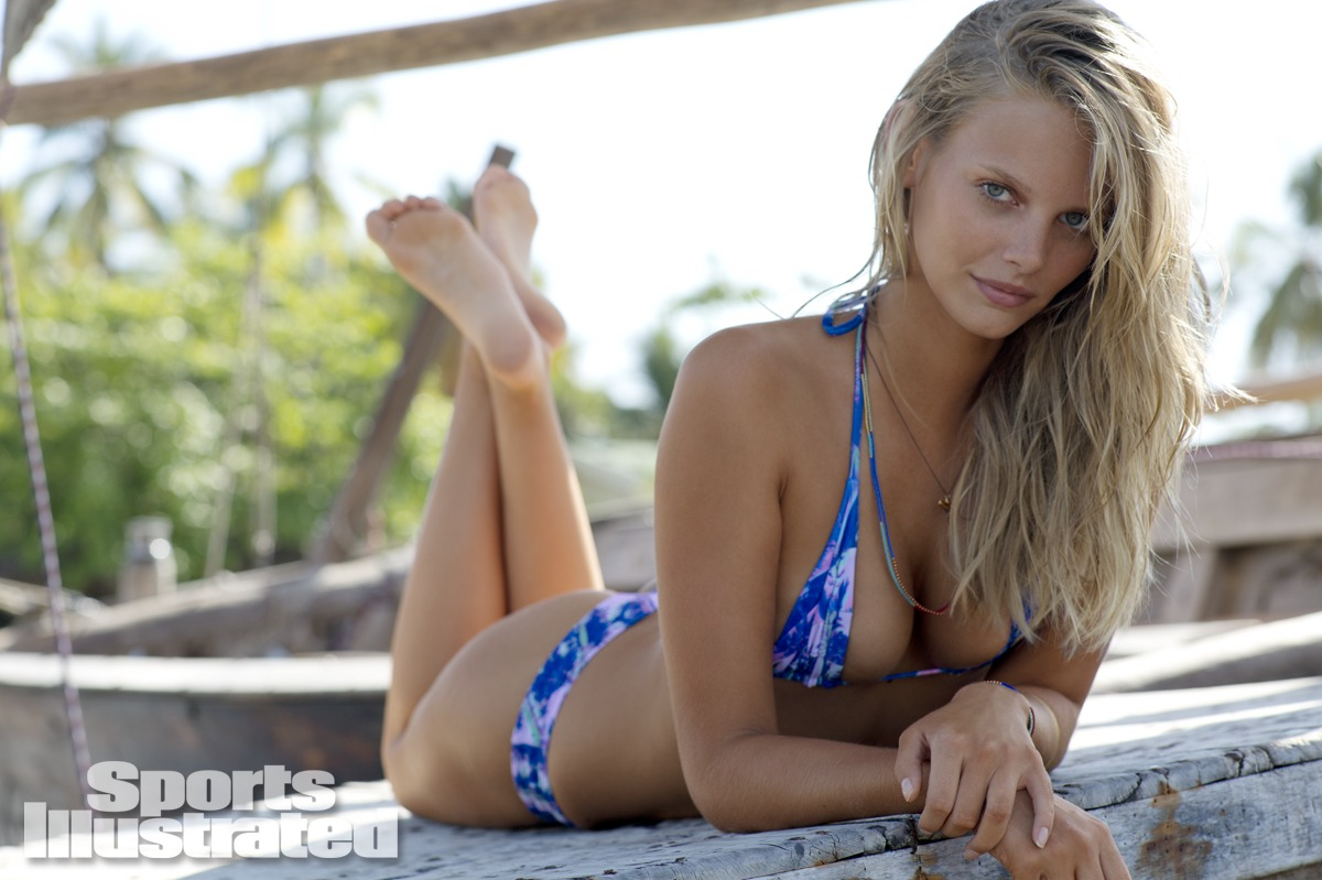 Marloes Horst was photographed by Derek Kettela in Madagascar. Swimsuit by STONE FOX SWIM.