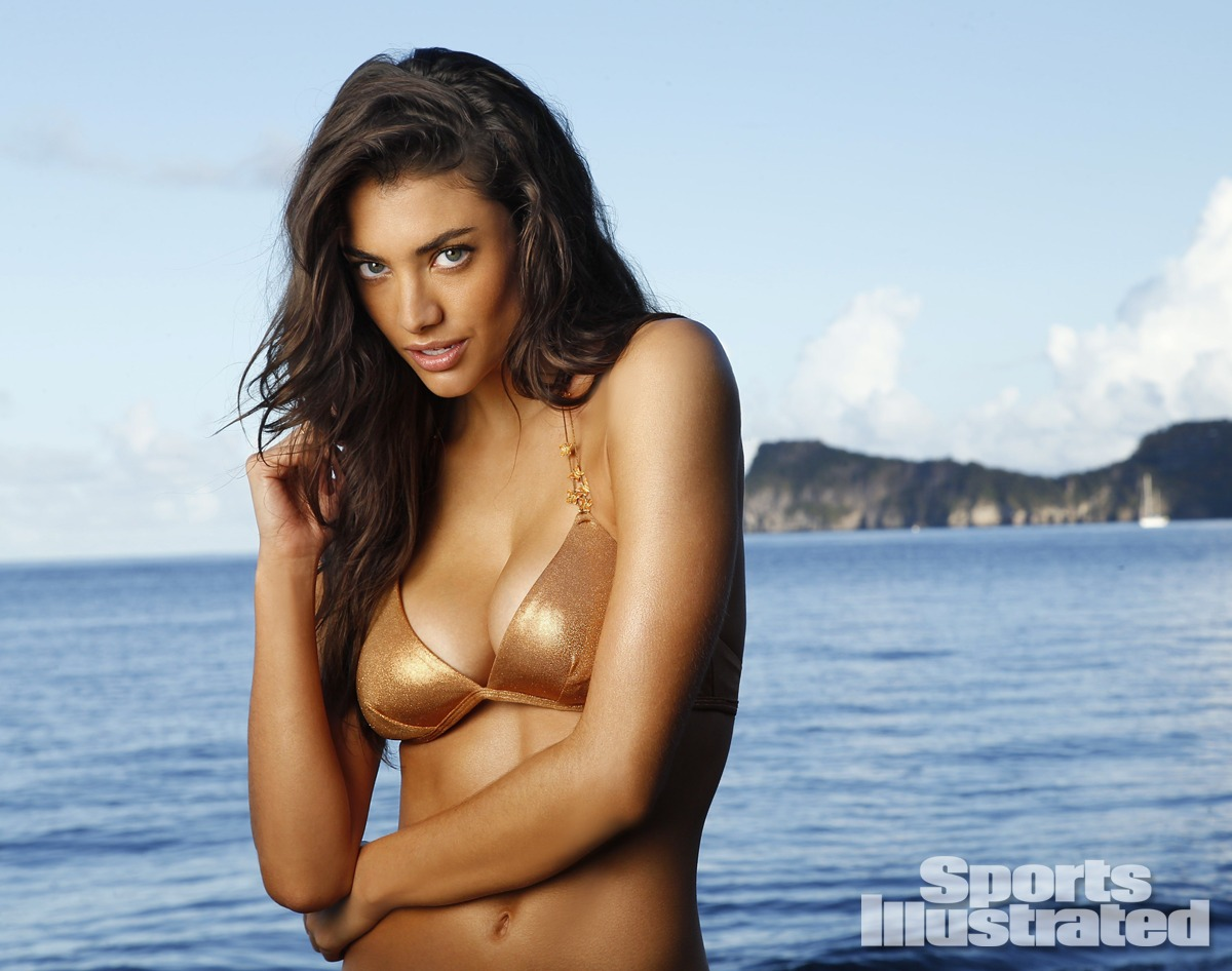 Lauren Mellor was photographed by Walter Iooss Jr. in St. Lucia. Swimsuit by Letarte by Lisa Cabrinha.