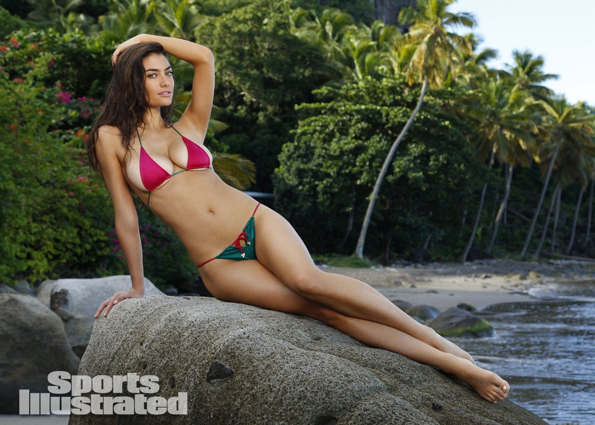 Lauren Mellor was photographed by Walter Iooss Jr. in St. Lucia. Swimsuit by Indah.