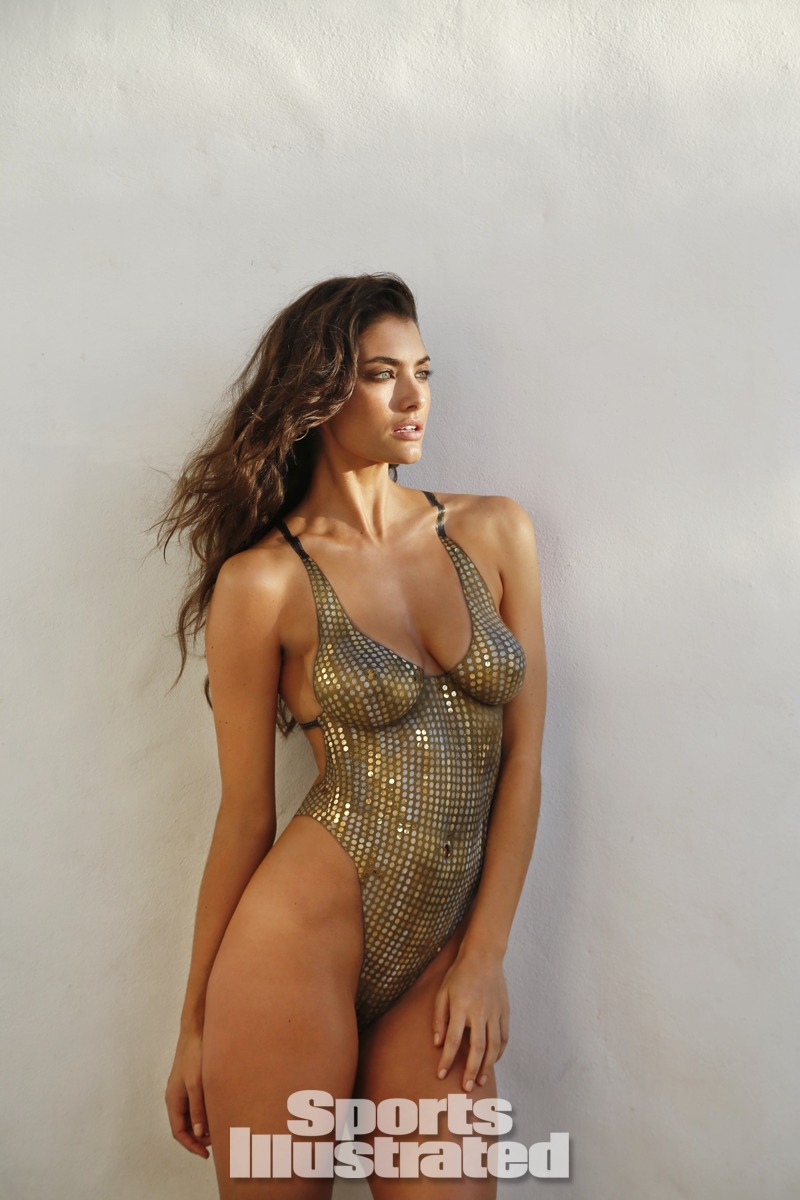 Lauren Mellor was photographed by Walter Iooss Jr. in St. Lucia. Swimsuit inspired by Maui Girl by Debbie Wilson from the 1992 Monika Tilley Swim suit.