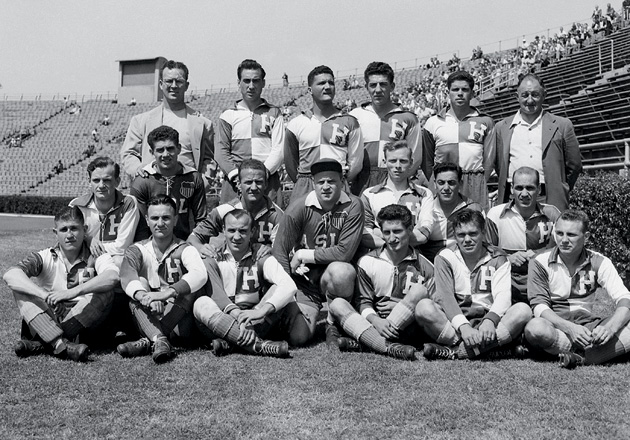 Pictured above: The 1950 U.S. World Cup team. The late Frank Borghi is in the second row, second from the left.