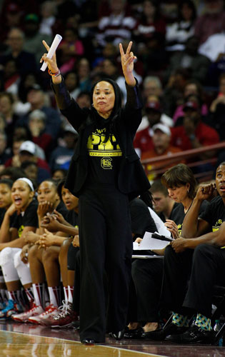 Coach Dawn Staley has led South Carolina to its first No. 1 ranking.
