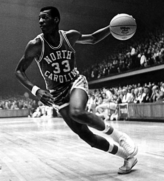 Charlie Scott was the first African-American scholarship athlete at UNC in any sport and became a two-time All-America.