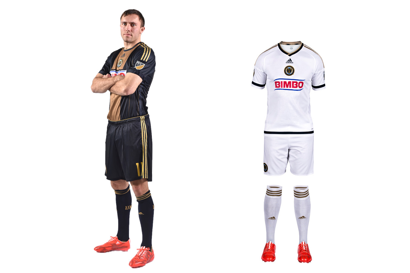 "The Union got it right in 2010. The inaugural navy kit with the gold center stripe, reflecting the Philadelphia flag, was iconic. The gold-and-blue away set, a reversal of the primary, was one-of-a-kind. The holdover home uniform still looks great, although the sponsor's logo wrecks the balance. But the new secondary is a disaster, a needless departure from the brand and an 10th all-white MLS kit. Once innovators, the Union are now followers. The ""WE ARE ONE"" collar slogan, the tiny snake below the neckline and the embossed stars on the front are lost in a sea of white."