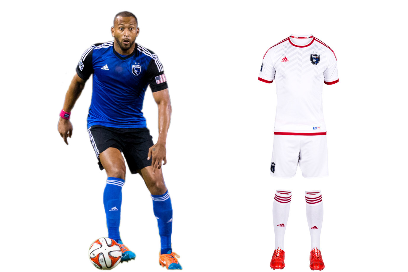"""Earthquakes"" is an appropriate moniker for a club that's experienced so much upheaval. While the new Avaya Stadium offers stability, the brand remains in flux. SJ's '14 overhaul produced a beautiful blue-and-black primary kit that's already a modern classic. But the logo, awkwardly anchored by ""Quakes""—a nickname of a nickname—lacks gravitas. We liked the re-introduction of the NASL-era red, which inspired last year's away kit. That's been replaced by a new white secondary set (yes, another one). It lacks the creativity, individuality and ambition that should be associated with a Bay Area club on the rise."