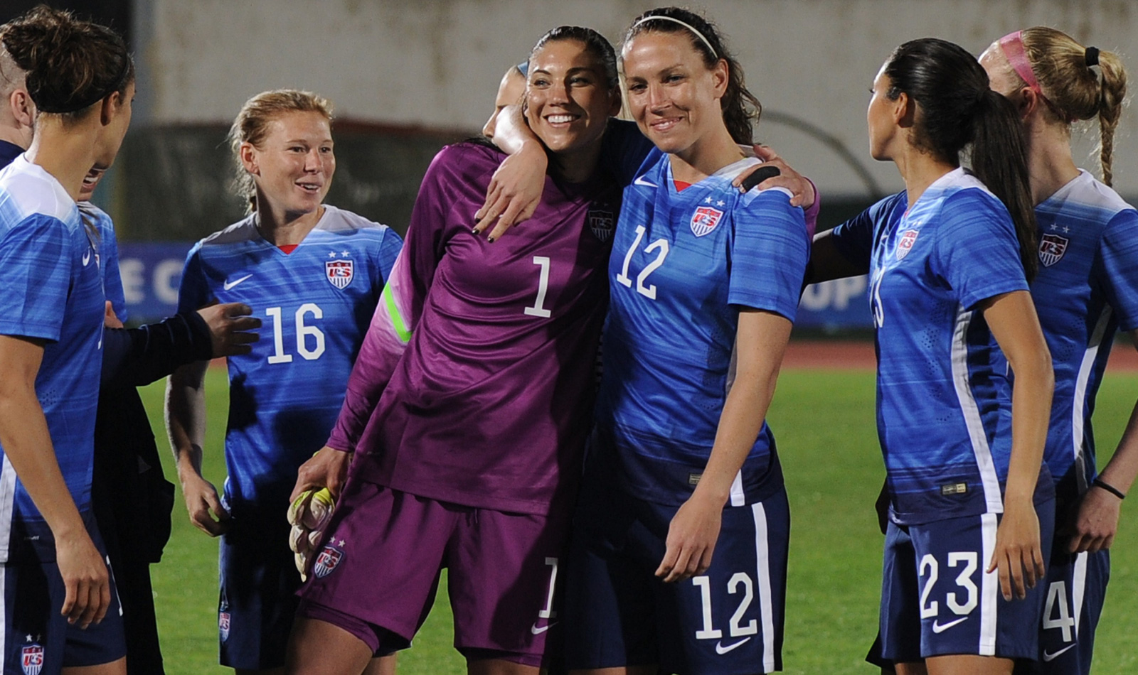 The USWNT opens the Algarve Cup with a 2-1 win over Norway, marking Hope Solo's return from a 30-day suspension with a come-from-behind victory. Carli Lloyd scored both goals for the Americans.