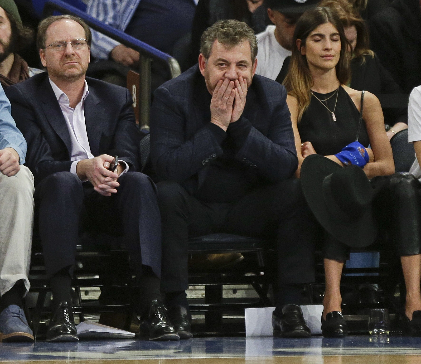 Owner James Dolan horrified at the mess of a team he helped create.