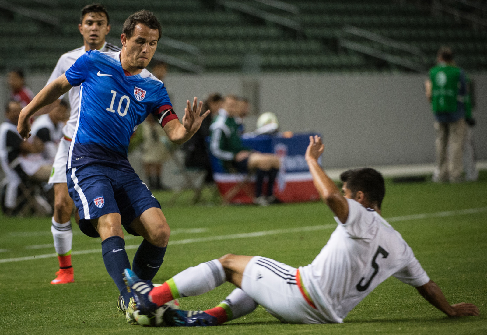 Real Salt Lake's Luis Gil captains the USA to a 3-0 win over Mexico at StubHub Center in Olympic qualifying preparation for both CONCACAF favorites.