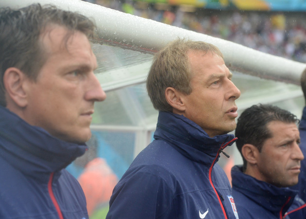 From left, Andi Herzog, Jurgen Klinsmann and Tab Ramos must come together to sort out who will play for the U.S. U-23, senior and U-20 teams during a hectic summer and fall.
