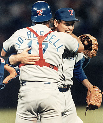 The first time John Russell caught Nolan Ryan turned out to be Ryan's sixth career no-no.