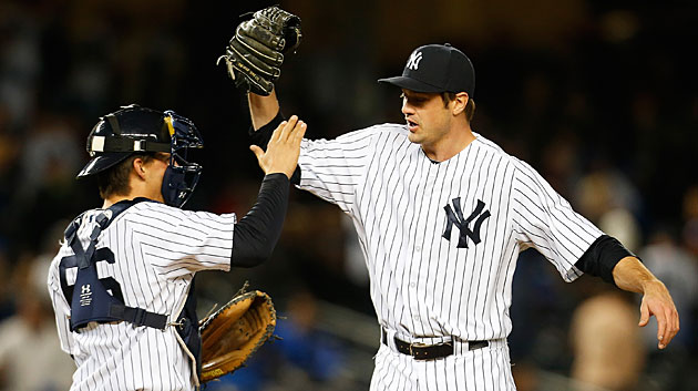 With closer Andrew Miller anchoring their stellar bullpen, the surprising Yankees are in first place.