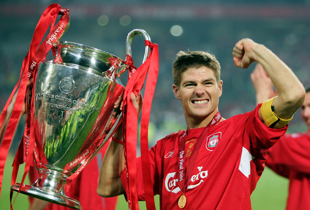 Steven Gerrard played a big role in Liverpools thrilling win in the 2005 Champions League final.