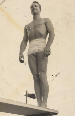 Wayne was a favorite of Riefenstahl's because of his physique and Aryan features.