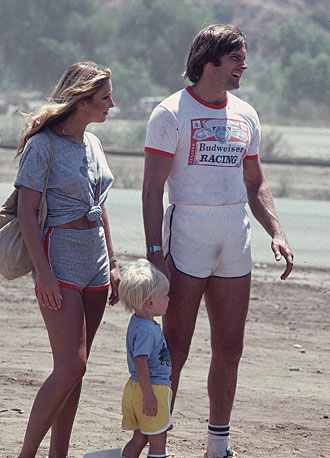 Bruce Jenner with his then-girlfriend and son, Burt.