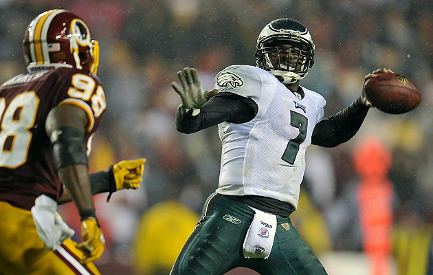 Vick torched the Redskins for 333 yards and six total touchdowns on Monday Night Football.