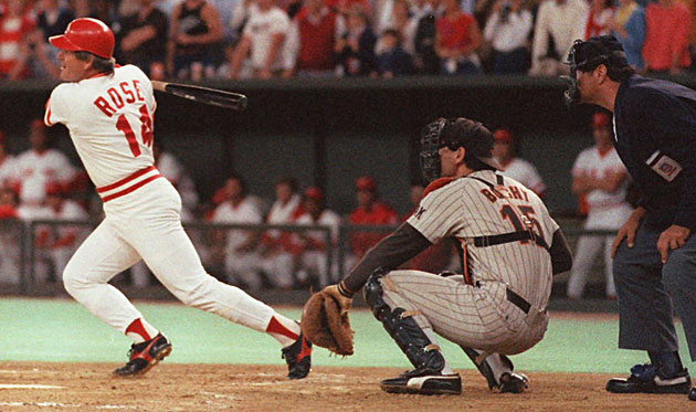 Rose finally passed Ty Cobb to become baseball's all-time hit king with No. 4,192 on Sept. 11, 1985.