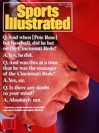 An investigation in 1989 led to Rose's banishment from baseball.