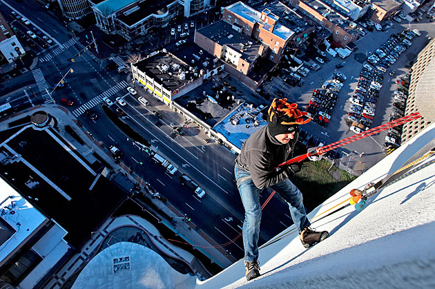 An adrenaline junkie, Cashman in 2010 rapelled down a 22-story building in Stamford, Conn.