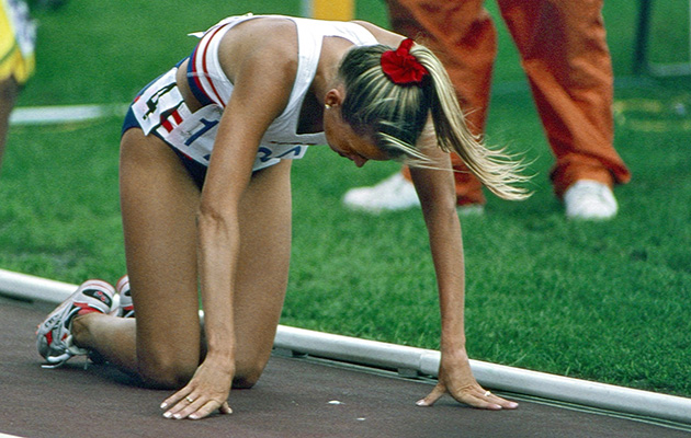 With leaden legs, Hamilton came in last in her 1,500-meter preliminary in Barcelona.